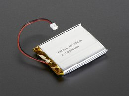 Lithium Ion Polymer (LiPoly) Battery - 3.7V 2500mAh