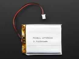 Lithium ion polymer lipoly battery 3 dot 7v 2500mah number 2