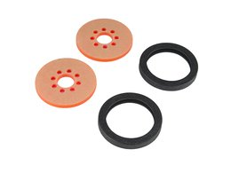 "Precision Disc Wheel - 2"" (Clear Pink, 2 Pack)"