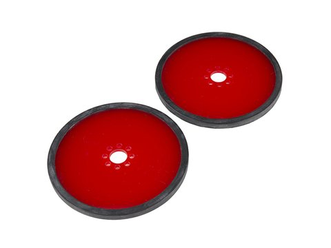 """Precision Disc Wheel - 4"""" (Red, 2 Pack)"""