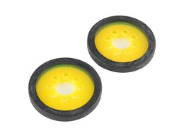 """Precision Disc Wheel - 2"""" (Clear Yellow, 2 Pack)"""
