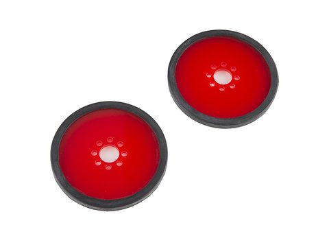 """Precision Disc Wheel - 3"""" (Red, 2 Pack)"""