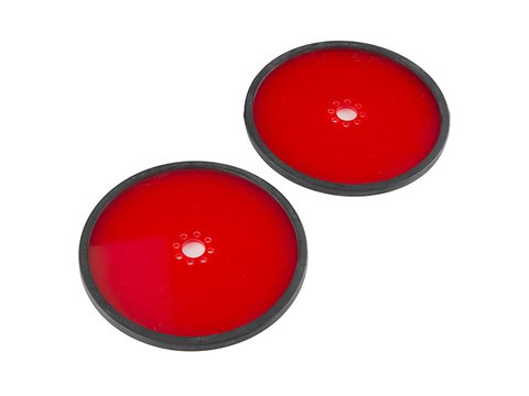"""Precision Disc Wheel - 5"""" (Red, 2 Pack)"""