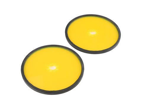"""Precision Disc Wheel - 5"""" (Clear Yellow, 2 Pack)"""