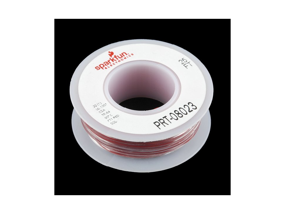 Hook up wire red 22 awg 9843590934