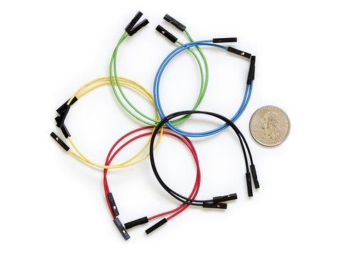 "Jumper Wires Premium 6"" Female to Female Pack of 10"