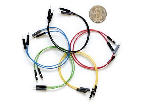"Jumper Wires Premium 6"" Male to Male Pack of 10"