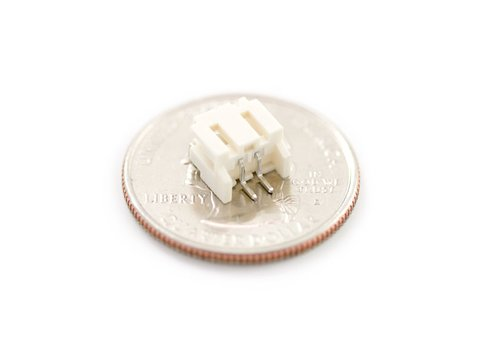 JST Right Angle Connector - White