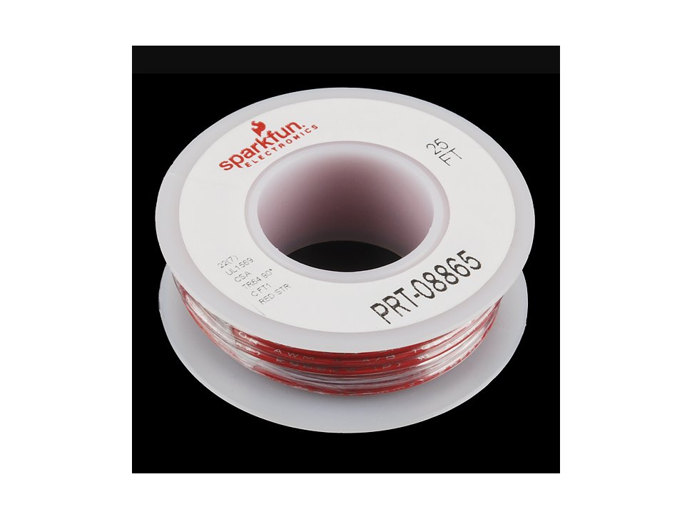 Hook up stranded wire red 22 awg 809790748