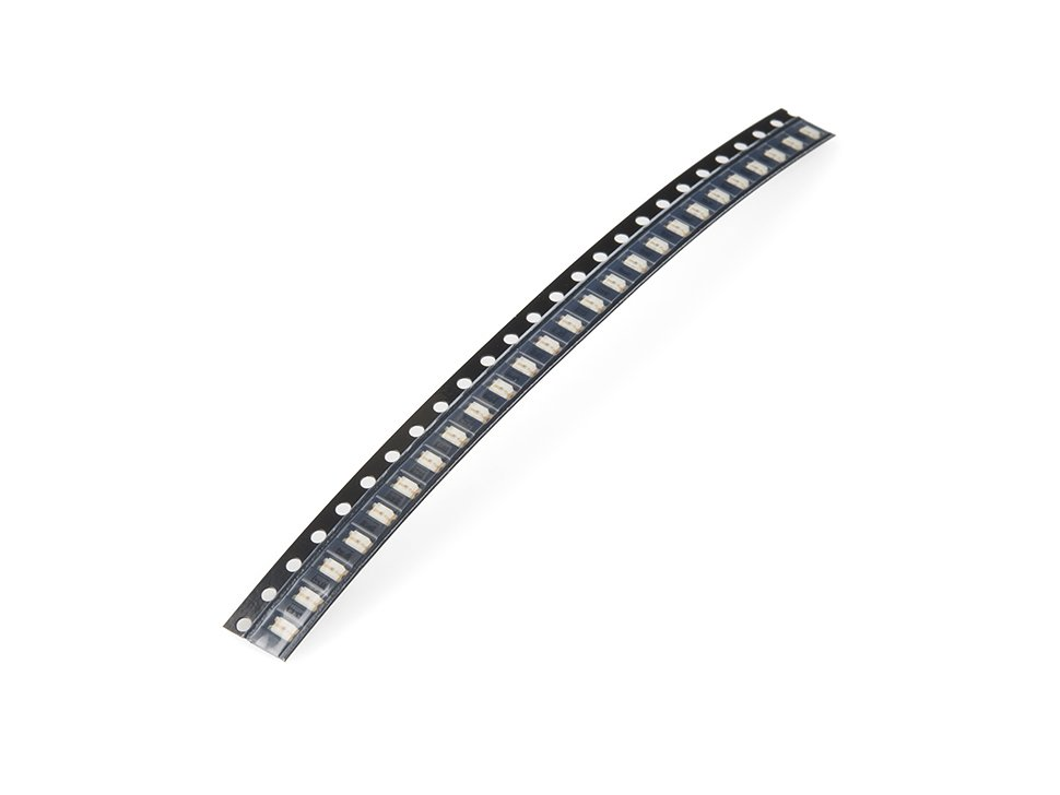 Smd led green 1206 strip of 25 4799785790