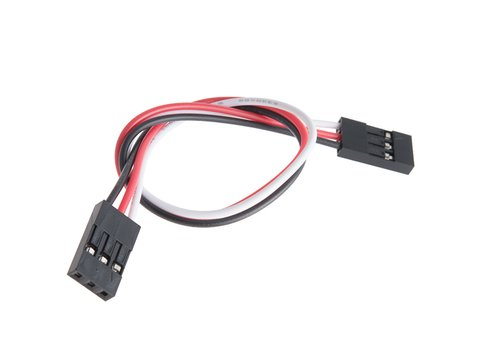 "Jumper Wire - 0.1"", 3-pin, 6"" (Black, Red, White)"