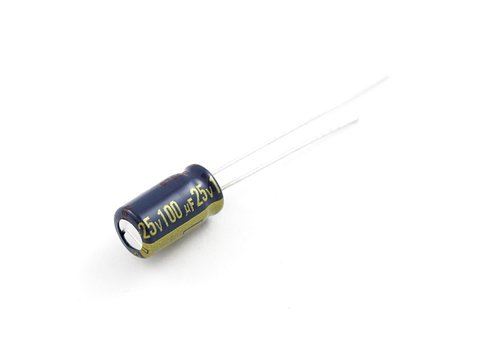 Electrolytic Decoupling Capacitors - 100uF/25V