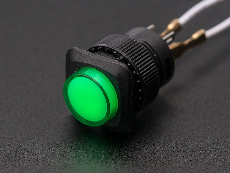 16mm green momentary led pushbutton 1