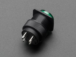 16mm green momentary led pushbutton 4