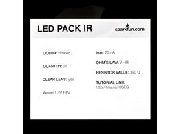 Led infrared 850nm 25 pack 1745225867