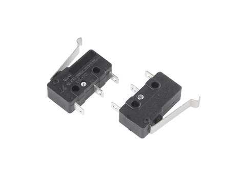 Mini Microswitch - SPDT (Offset Lever, 2-Pack)