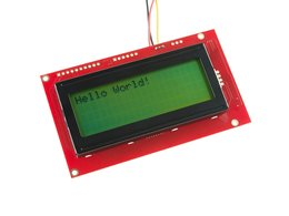 Serial Enabled 20x4 LCD - Black on Green 5V