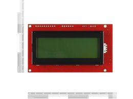 Serial enabled 20x4 lcd black on green 5640650117