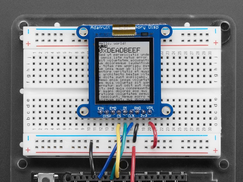 Adafruit sharp memory display breakout 2495479479