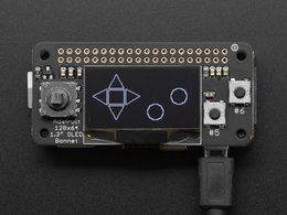 Adafruit 128x64 oled bonnet for raspberr 412554577