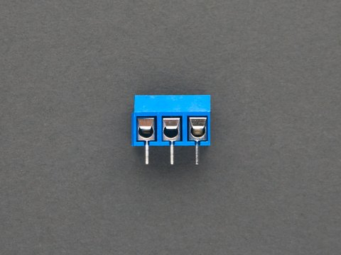 Terminal Block - 3 pin - 5mm pitch - Pack of 5