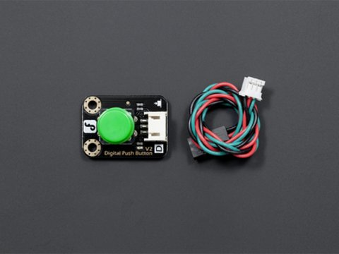 DFRobot Gravity: Digital Push Button (Green)