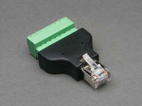 Ethernet RJ45 Male Plug Terminal Block