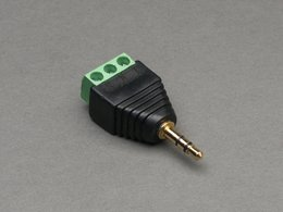 3.5mm Stereo Audio Plug Terminal Block