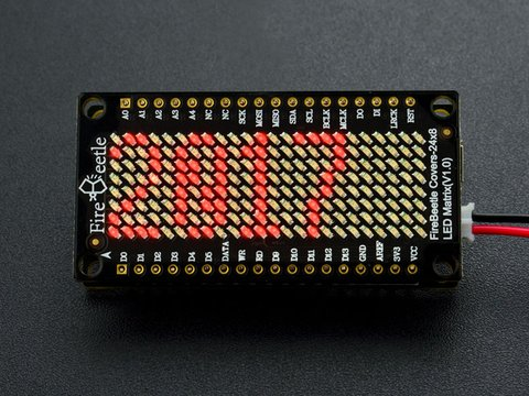 FireBeetle Covers-24×8 LED Matrix (Red)