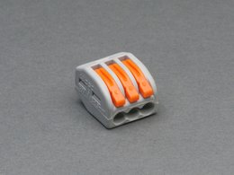 Snap-action 3-Wire Block Connector (12-28 AWG)