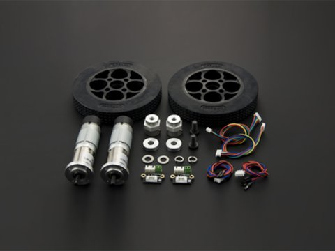 Rubber Wheel & Motor Kit