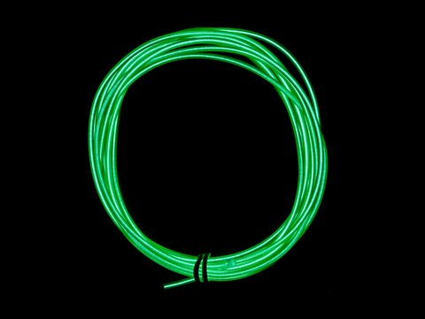 EL Wire Starter Pack - Green - 3 Meters