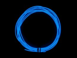 El wire blue on