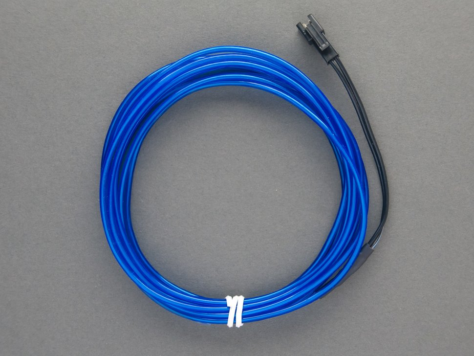 El wire blue off