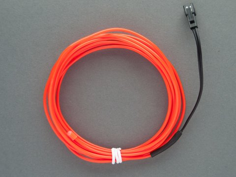EL Wire Starter Pack - Red - 3 Meters