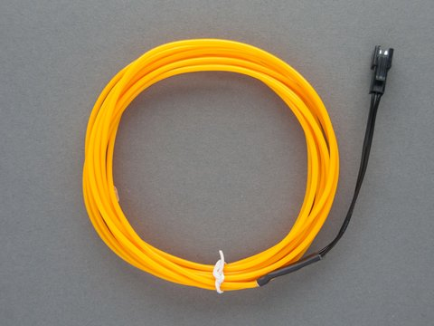 EL Wire Starter Pack - Yellow - 3 Meters