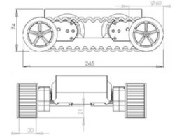 Rover 5 tank chassis 2 motors 7081779894