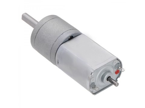 250:1 Metal Gearmotor 20Dx46L 6V w/ Extended Shaft