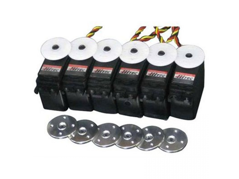 Combo Pack 6x HS-5485HB with 6 Free Metal Servo Horns