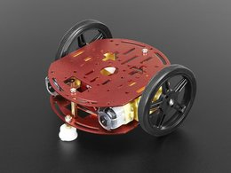 Mini round robot chassis kit 2wd with dc motors 1