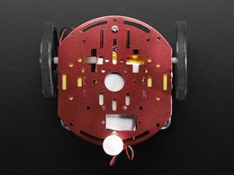 Mini round robot chassis kit 2wd with dc motors 3