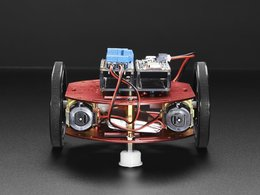 Mini round robot chassis kit 2wd with dc motors 6