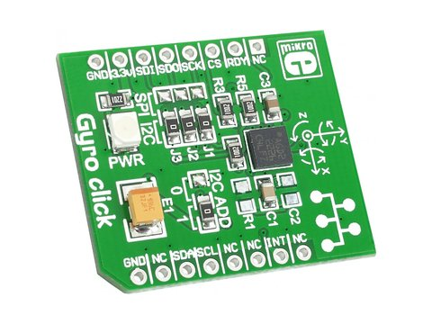 3-Axis Gyro and Temperature Sensor Click Board