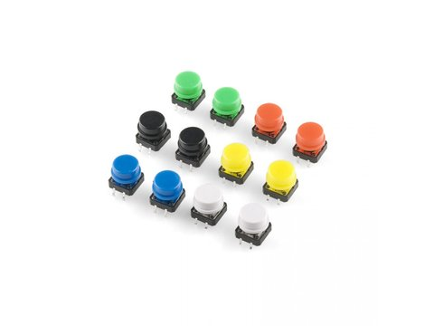 Tactile Button Assortment pack of 12