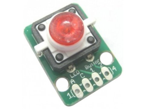 Button Red LED Module