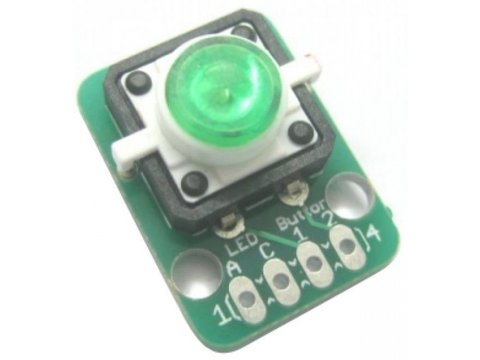 Button Green LED Module