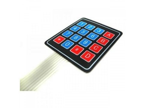 Keypad - 16 Button w / Cable, Adhesive Back