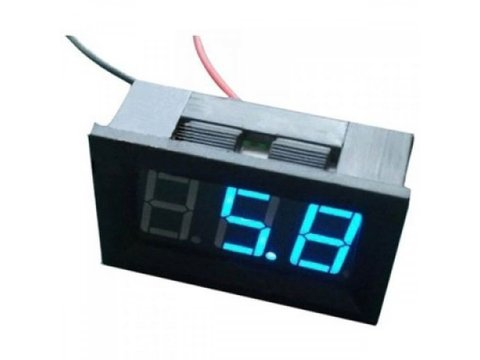LED 4.5V - 30V Voltage Meter (Blue)