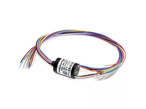 12 Wires Gimbal Slip Ring 12.5mm