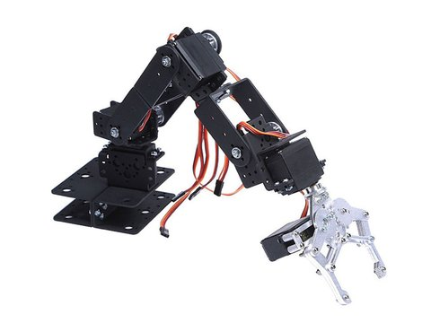 6 DOF Robotic Arm Kit - With Servo Motors - Unassembled